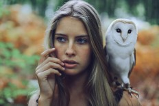 Beautiful Girl With Owl - Photography Wallpapers