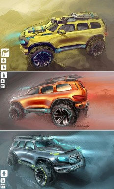 MERCEDES-BENZ ENER-G FORCE CONCEPT CAR- 11.28.12 | Car Sketching | Pinterest