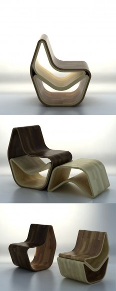 The GVAL Chair, by OOO My Design, is as multifunctional piece that can be (are you ready for it?) a chair, a chair with a footrest, a chair with a … | Pinterest