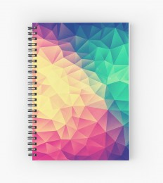 """Abstract Polygon Multi Color Cubism Triangle Design"" Spiral Notebooks by badbugs 