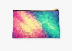 """Abstract Polygon Multi Color Cubism Triangle Design"" Studio Pouches by badbugs 
