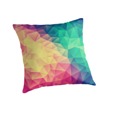 """Abstract Polygon Multi Color Cubism Triangle Design"" Throw Pillows by badbugs 