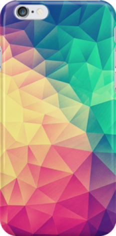 """Abstract Polygon Multi Color Cubism Triangle Design"" iPhone Cases & Skins by badbugs 