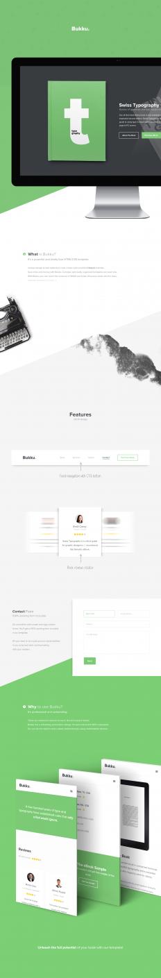Bukku - Free HTML/CSS Book/eBook Template on