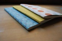fabric covered moleskines - wise craft