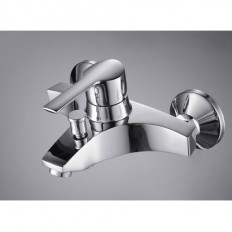 Single Handle Chrome Wall-mount Bathtub Faucet – FaucetSuperDeal.com | Shower Faucets | Pinterest