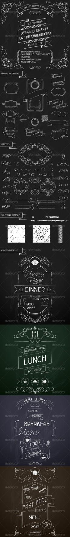 Design Elements on the Chalkboard - Decorative Symbols Decorative | Wedding Misc | Pinterest