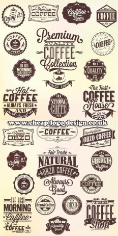 coffee shop logo graphic ideas www.cheap-logo-design.co.uk #coffee #coffeelogos #coffeegraphics | Logos | Pinterest