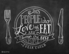 Chalkboard Art - Kitchen Chalkboard Art - Dining Room Art - Kitchen Print - Hand Lettering