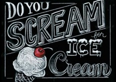 entire blog post of chalk menu! so nice! do you scream for ice cream chalkboard illustration | Informational Graphics | Pinterest