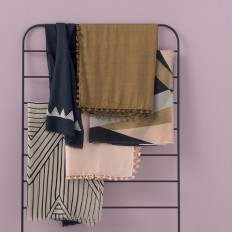 Lean-To Rounded Matte Black Bedhead and Hanging Rack by Citta Design   Citta Design