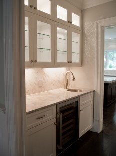 Super White Granite Countertops - Transitional - kitchen - Michelle Winick Design