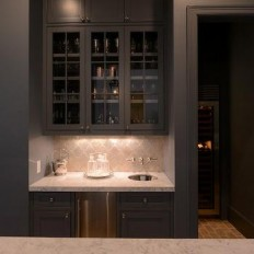 Wet Bar Ideas - Transitional - kitchen - Christine Donner Kitchens