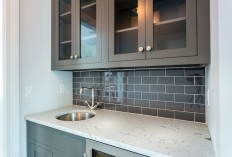Dark Gray Subway Tiles - Transitional - Kitchen - Sir Development