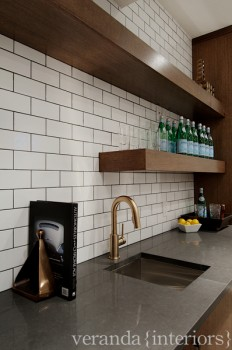 Wet Bar Design - Contemporary - basement - Veranda Interiors