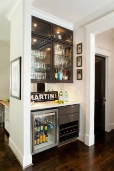 Glass Front Mini Fridge - Contemporary - kitchen - TerraCotta Properties