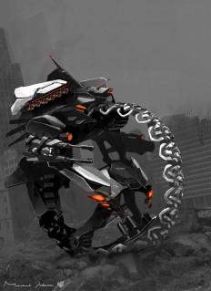 concept robots: Polaris vehicle bot concept art by Michael Hritz | form/detail | Pinterest
