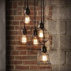 Wire cage Pendant Light / Industrial / Shabby Chic / Cottage charm / Rustic / Loft / | For the Home | Pinterest
