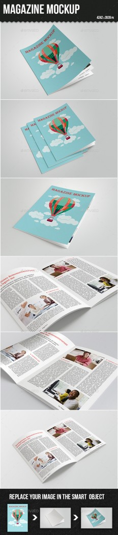 Magazine Mock-up | GraphicRiver