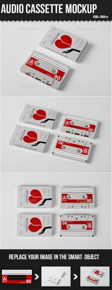 Audio Cassette Mock-up | GraphicRiver