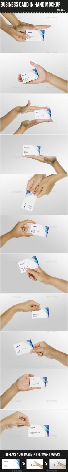 Business Card in Hand Mock-up | GraphicRiver
