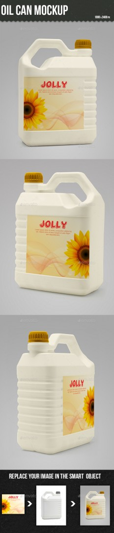 Oil Can Mockup | GraphicRiver