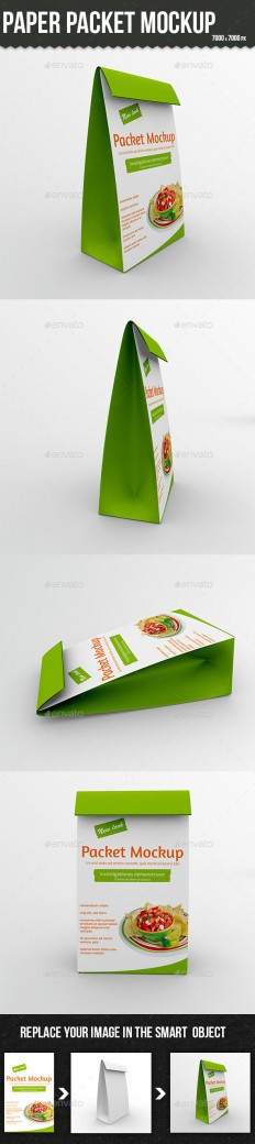 Paper Packet Mockup | GraphicRiver