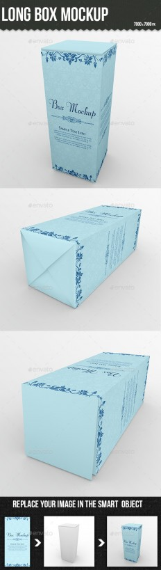 Long Box Mockup | GraphicRiver
