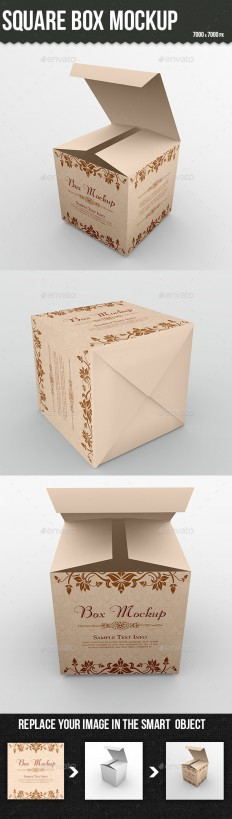 Square Box Mockup | GraphicRiver