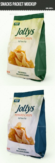 Snacks Packet Mockup | GraphicRiver