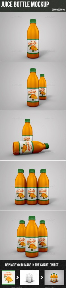 Juice Bottle Mockup | GraphicRiver
