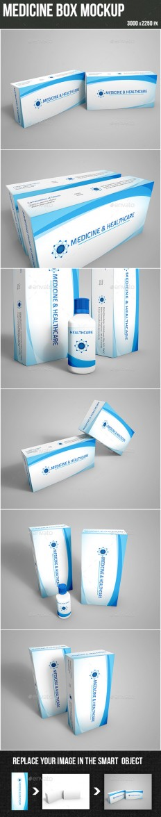 Medicine Box Mockup | GraphicRiver
