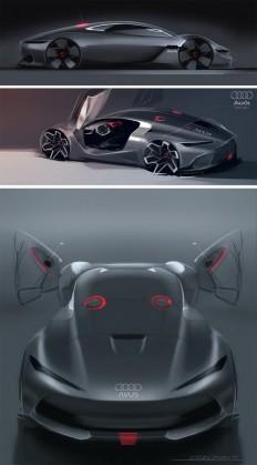 Audi Avus MKII Concept - Design Sketches by Liviu Tudoran