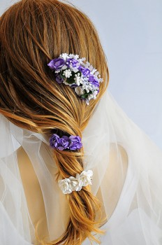 Wedding Flower Hair Comb wedding hair accessories hair by selenayy