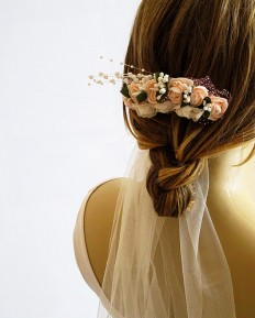Wedding Flower Hair Comb Bridesmaid Gifts weddings by selenayy