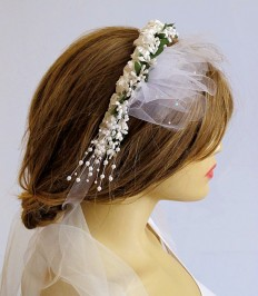 Wedding accessories wedding headband bridal headpiece by selenayy