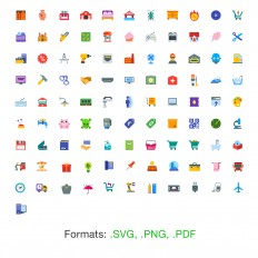 100 Free Flat Color Icons | GraphicsFuel | Premium & Free Graphic & Web Design Resources!
