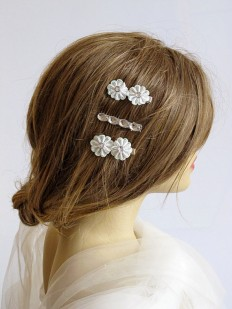 Wedding Flower Hair pins Flower hair pin bridal by selenayy