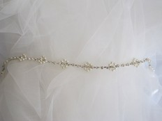 Wedding Belt Bridal Belt Crystal Rhinestone and ivory by selenayy