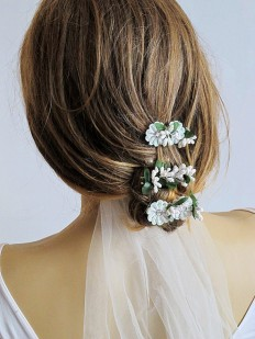 Wedding Flower Hair pins wedding hair accessories hair by selenayy