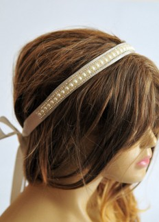 Bridal headband wedding hairband Headband Bridal Hair by selenayy