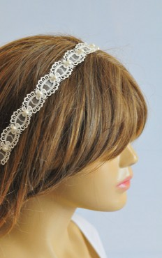 Wedding Headband Lace headband bridal hairband wedding by selenayy