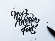 """I am not another font"" hand drawn typography by Jenna Bresnahan on Inspirationde"