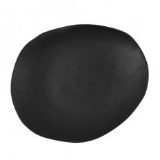 Santo Alessi Organics Plate 37cm Satin Black - Fast Shipping