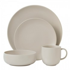 Royal Doulton Mode Putty 4 Person Dinner Set | With Exclusive Chip Resistant Warranty