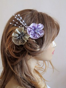 Wedding Flower Hair Comb hair accessories Bridesmaid by selenayy