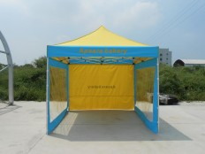 3x3M Aluminum Frame Folding Tent with Removable Transparent Sidewalls - Songpin Tents