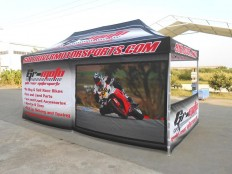 3x6M Pop Up Advertising Gazebo Tent for Moto Racing Events - Songpin Tents