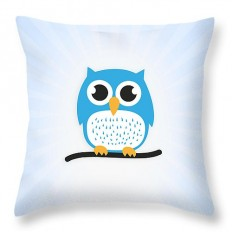 "Sweet and cute owl Throw Pillow for Sale by Philipp Rietz - 14"" x 14"""