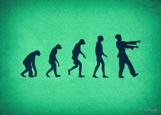 """""""Evolution of Zombies (Zombie Walking Dead)"""" by badbugs 